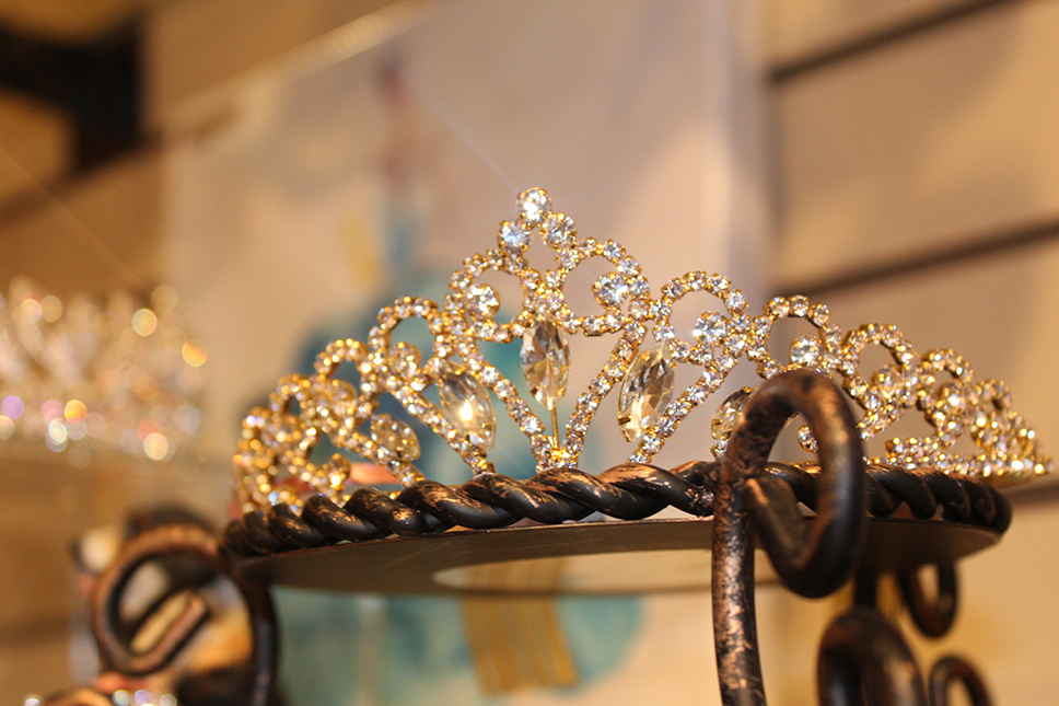 Gold Tiara Exploded with Sparkle.