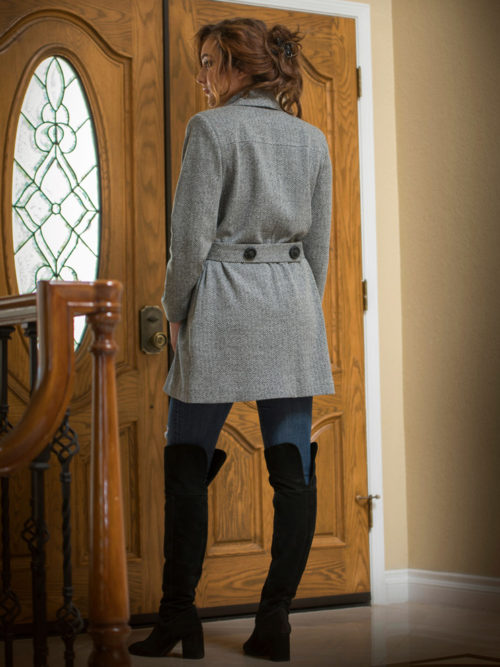 Gray wool coat